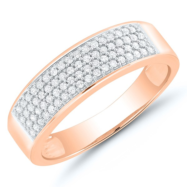 Rosegold - Ring mit Diamanten